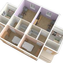 Проект дома на две семьи. Услуги дизайнера