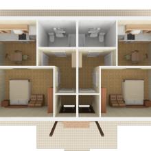Строительство дома на две семьи эконом класса. Проект