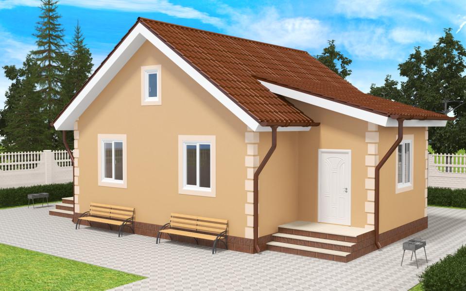 Готовые проекты домов на две семьи Недорогие проекты