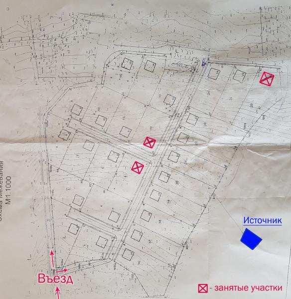Участки на продажу в Ундорах. Подробная схема