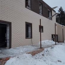 Строительство зимой. Коттедж